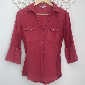Standard James Perse Top ribbed Button Down.